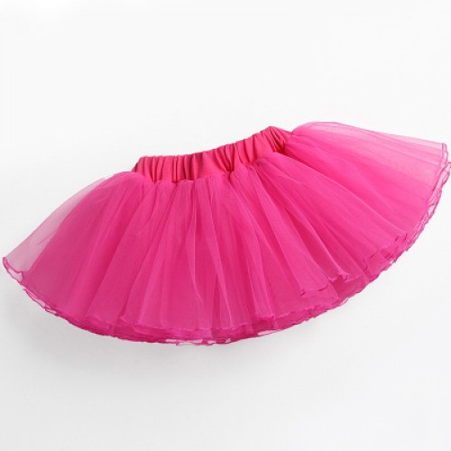 Girls baby tutu skirts pettiskirt tulle princess kids ballet dance performance skirts for children
